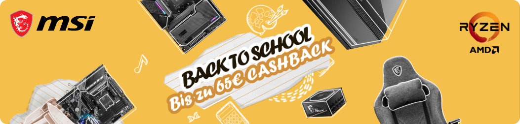 MSI Back to School Cashback