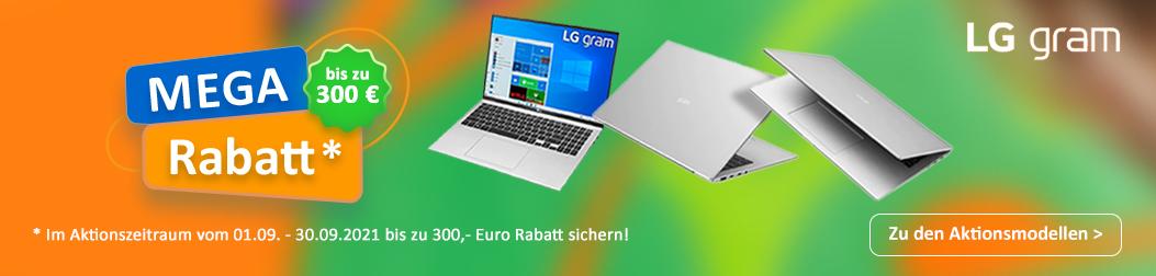 LG gram Septemberrabatte 2021