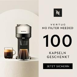 Nespresso schenkt Ihnen bis zu 100 Kaffeekapseln!