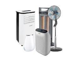 Klimaanlage, Heizlüfter und Ventilator
