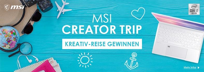 MSI Creator Trip Aktion