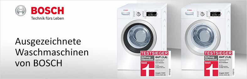 Ausgezeichnete Waschmaschinen von Bosch