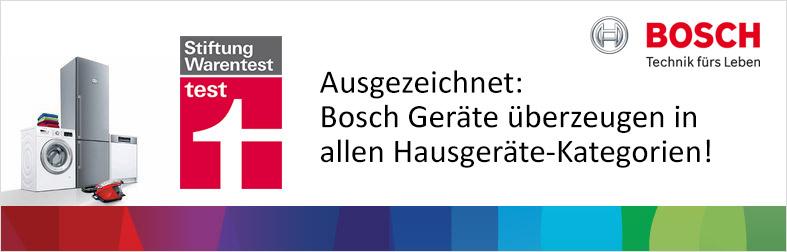 Ausgezeichnete Hausgeräte von Bosch