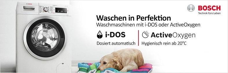 Bosch Waschmaschinen mit i-DOS und ActiveOxygen