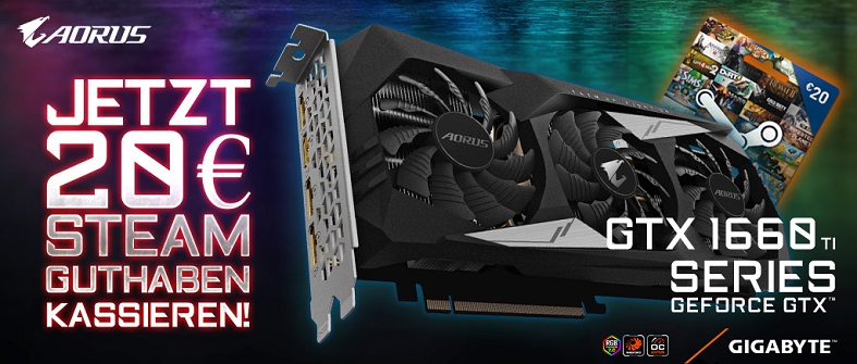 Gigabyte Aorus GTX 1660Ti Steam Aktion
