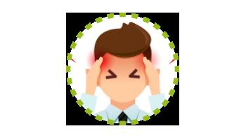 Schmerzzone Kopf