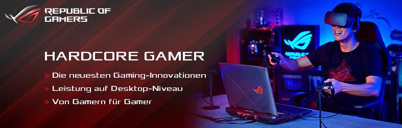 Asus-ROG Hardcore Gamer Banner