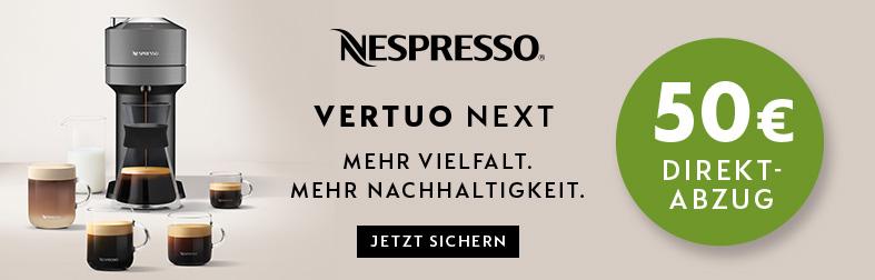 Nespresso Vertuo mit 50 Euro Sofortrabatt