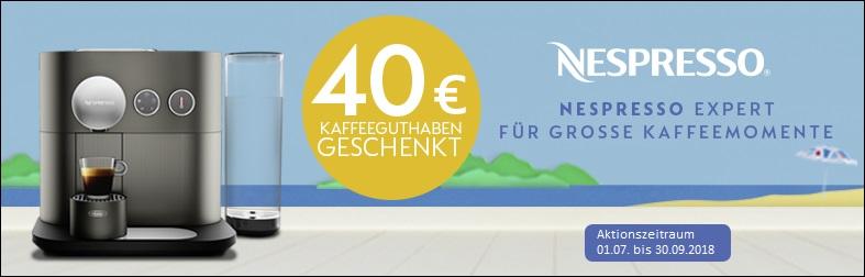 40 Euro Kaffeeguthaben mit Nespresso