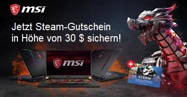 MSI 30 $ Steamgutschein