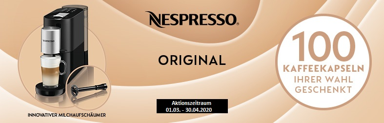 Nespresso schenkt Ihnen 100 Kaffeekapseln
