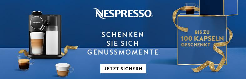 Nespresso schenkt Ihnen bis zu 100 Kaffeekapseln