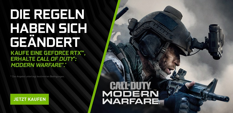Nvidia Geforce Aktion mit Call of Duty: Modern Warfare