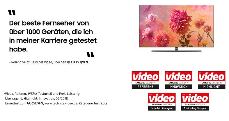 Auszeichnungen Samsung QLED TV