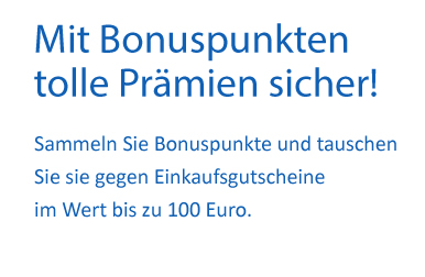Bonuspunkte-Textbanner