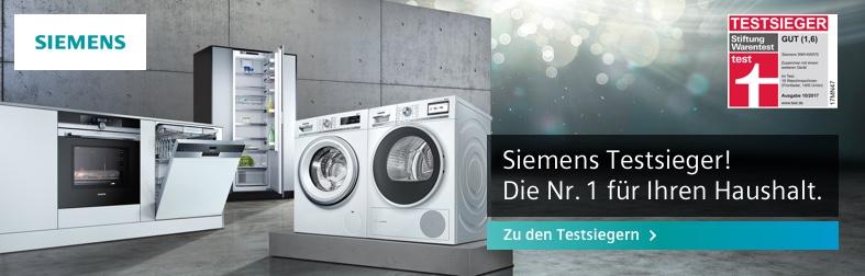 Siemens Testsieger-Haushaltsgeräte