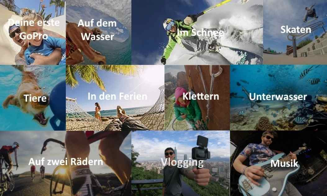 GoPro Aktivitäten