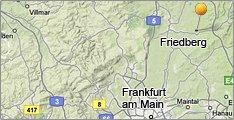 Karte Friedberg