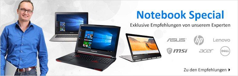 Notebook-Empfehlungen von unserem Produktexperten
