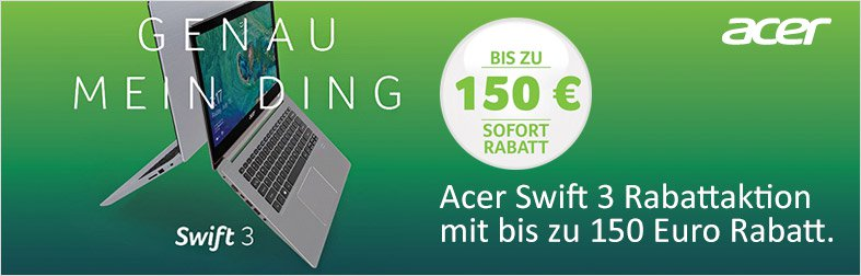 Acer Swift 3 Rabattaktion