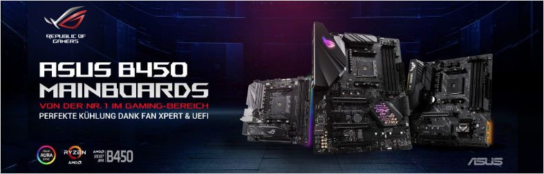 ASUS B450 Mainboards