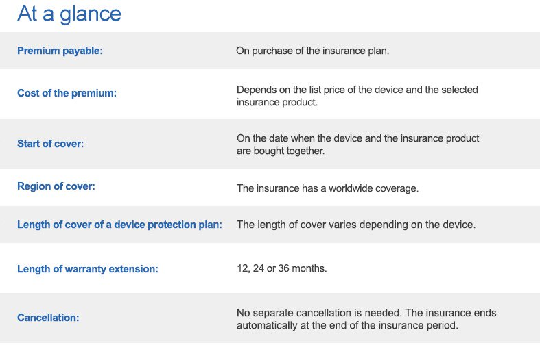 At a glance: Warranty extension and device protection at computeruniverse!