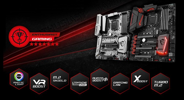 MSI Enthusiast Gaming Mainboards