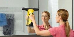 Kärcher Fenstersauger Spiegel absaugen